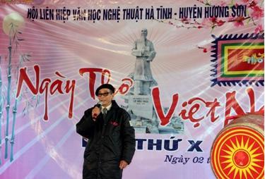 Nhà thơ Lê Khả Sỹ có thơ mừng trang Website của Hội