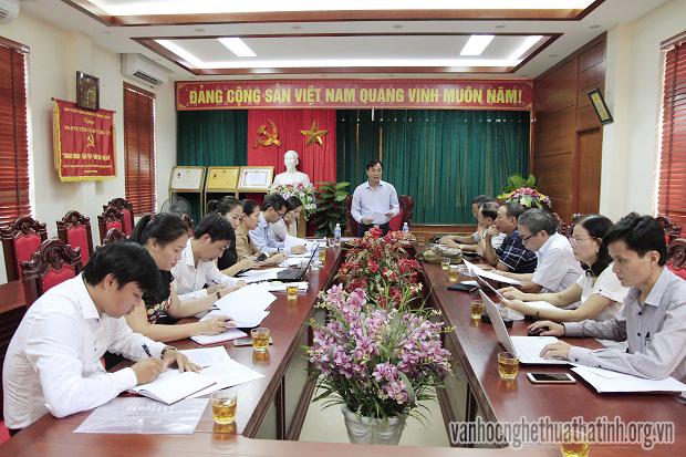 Ban Tuyên giáo Tỉnh ủy làm việc với Hội Liên hiệp VHNT Hà Tĩnh