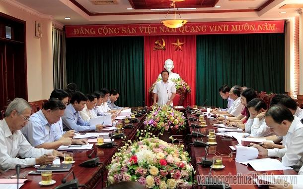 Thường trực Tỉnh ủy Hà Tĩnh làm việc với Ban thường vụ Hội liên hiệp Văn học Nghệ thuật