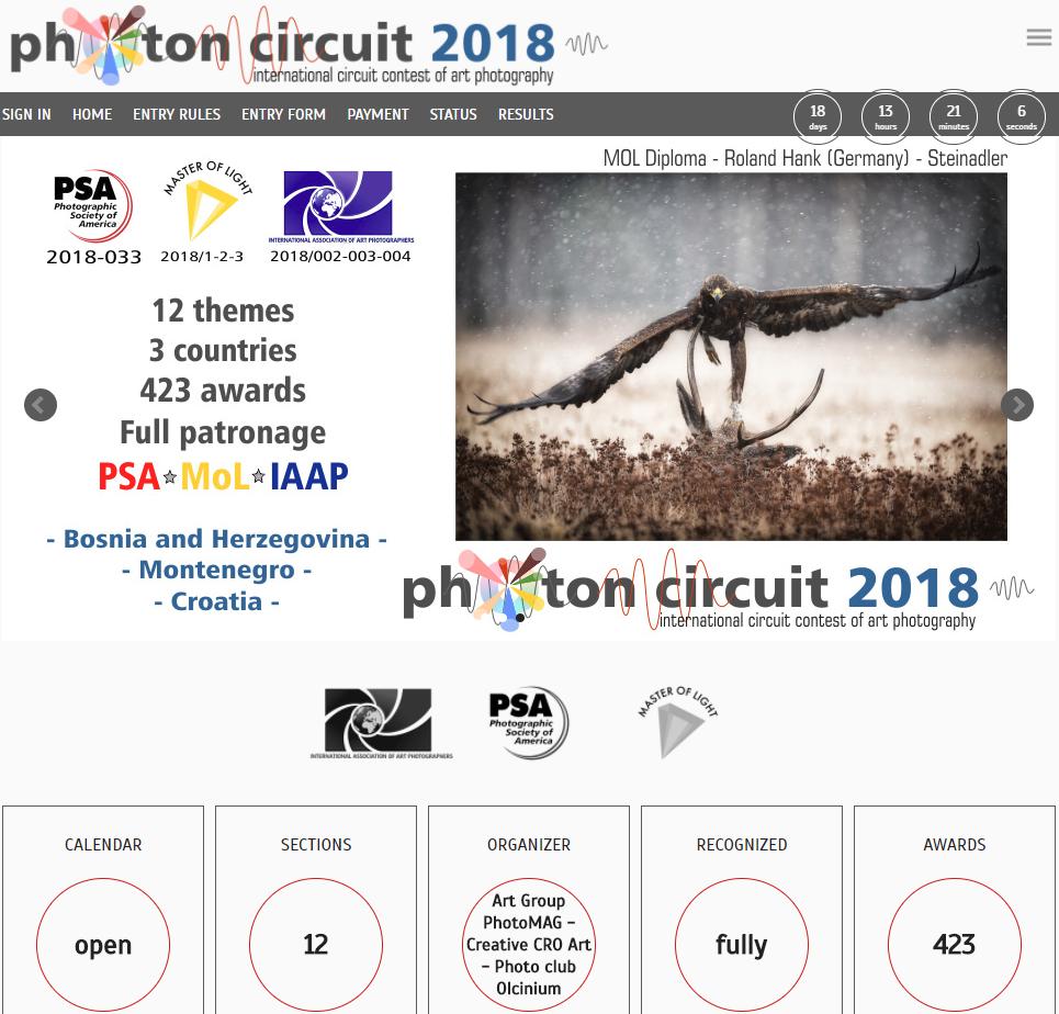 Thể lệ Cuộc thi ảnh quốc tế Photon Circuit 2018