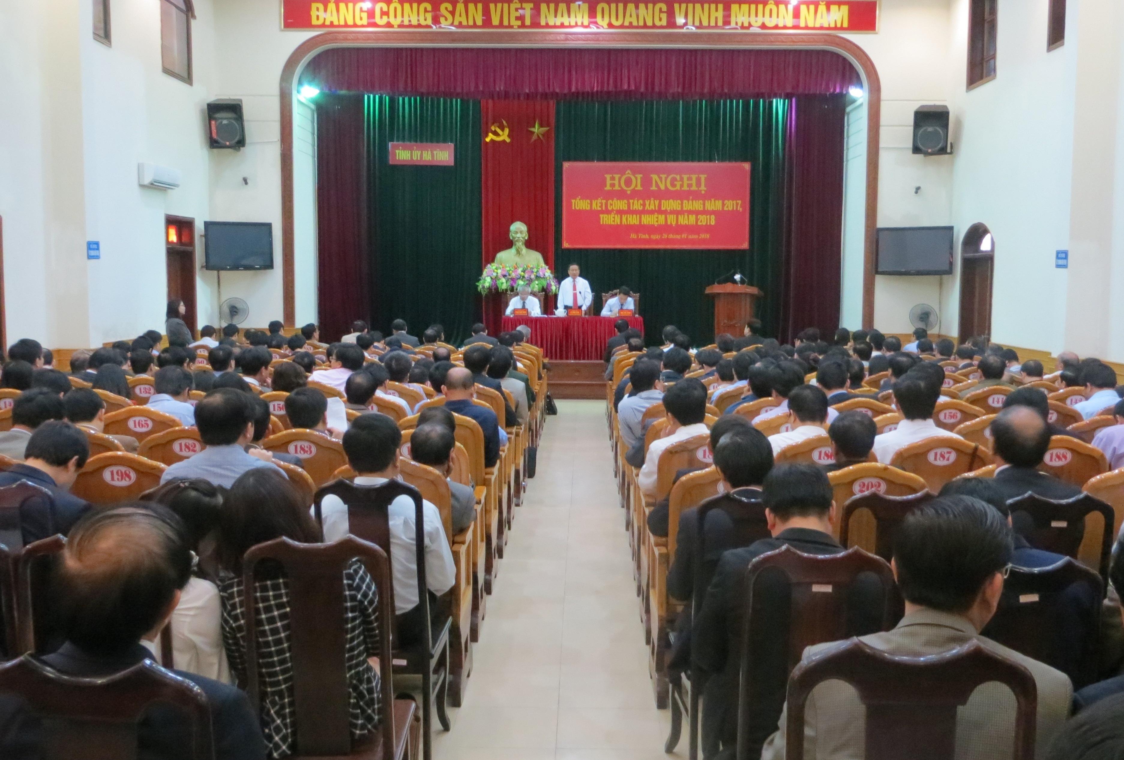 Tỉnh ủy Hà Tĩnh tổng kết hoạt động năm 2017