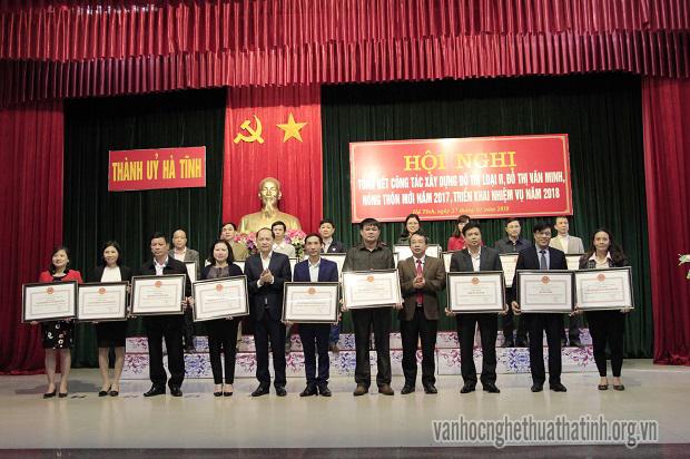 Thành phố Hà Tĩnh tổng kết công tác xây dựng đô thị loại II, đô thị văn minh, nông thôn mới năm 2017, triển khai nhiệm vụ năm 2018