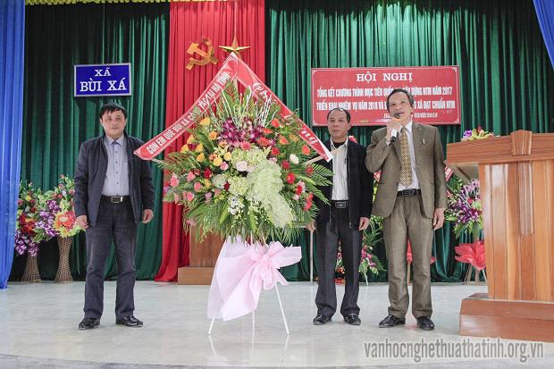 Xã Bùi Xá đón nhận bằng công nhận đạt chuẩn nông thôn mới