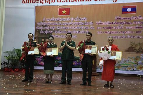 Trao giải VHNT về tình đoàn kết chiến đấu Việt Nam - Lào - Campuchia