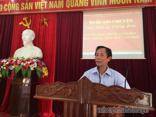 Lắng đọng về buổi nói chuyện của Tiến sỹ Đặng Lưu về chương trình giáo dục phổ thông môn Ngữ Văn mới
