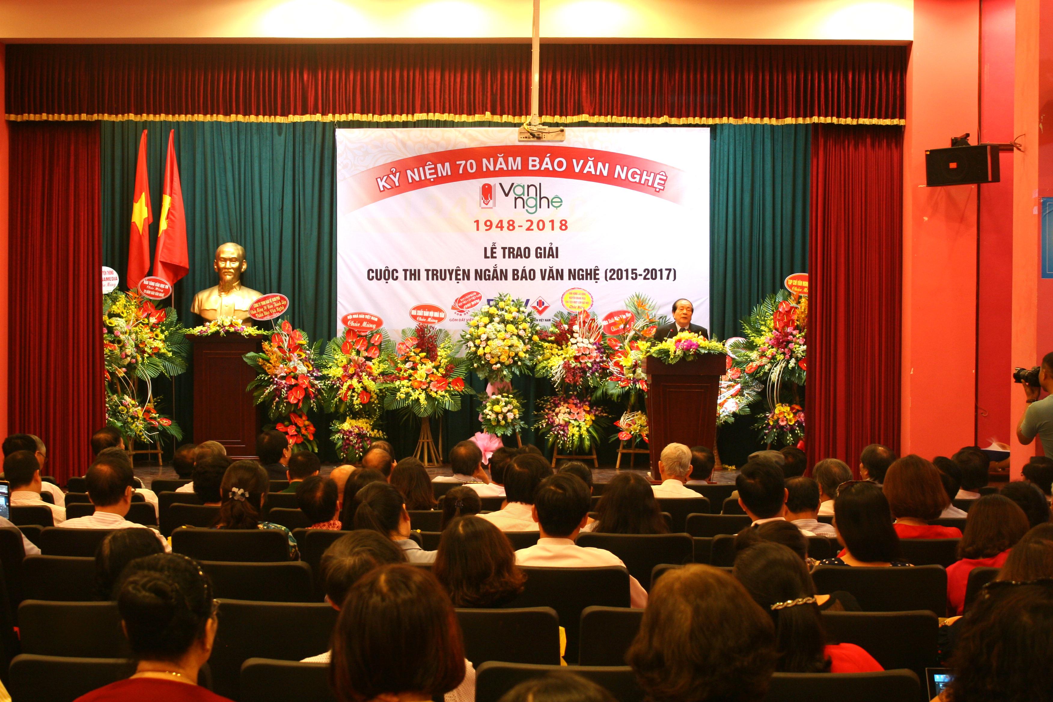 Kỷ niệm 70 năm thành lập Báo Văn nghệ, trao giải Cuộc thi Truyện ngắn báo Văn nghệ 2015-2017