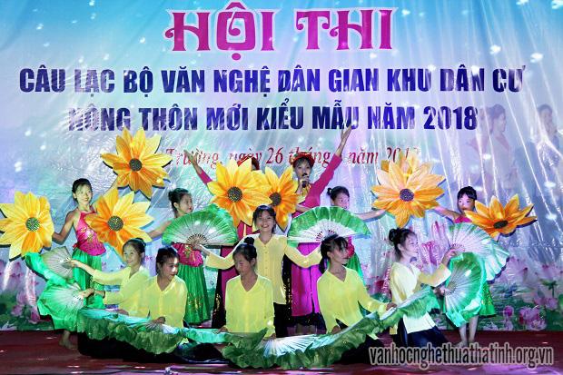 Hội thi Câu lạc bộ văn nghệ dân gian khu dân cư NTM kiểu mẫu tại xã Xuân Trường huyện Nghi Xuân