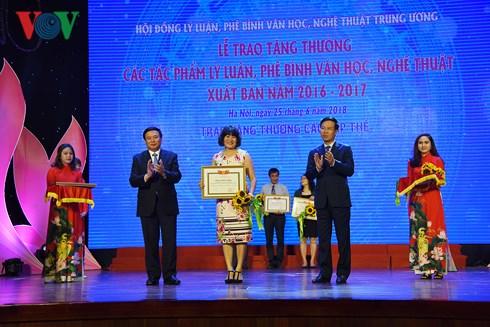 28 tác phẩm được giải thưởng Hội đồng lý luận, phê bình VHNT trung ương
