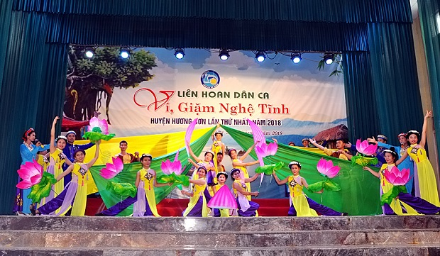 Khai mạc liên hoan dân ca ví, giặm Nghệ - Tĩnh huyện Hương Sơn