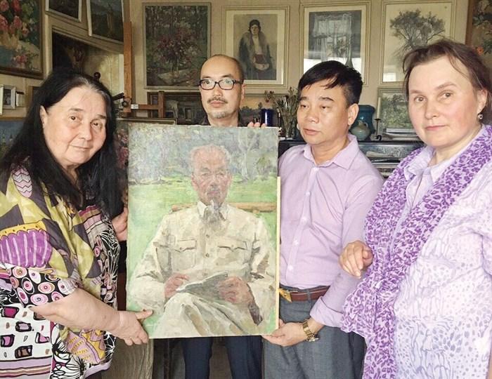 Bức tranh sơn dầu hiếm hoi về Bác Hồ của một hoạ sỹ Nga