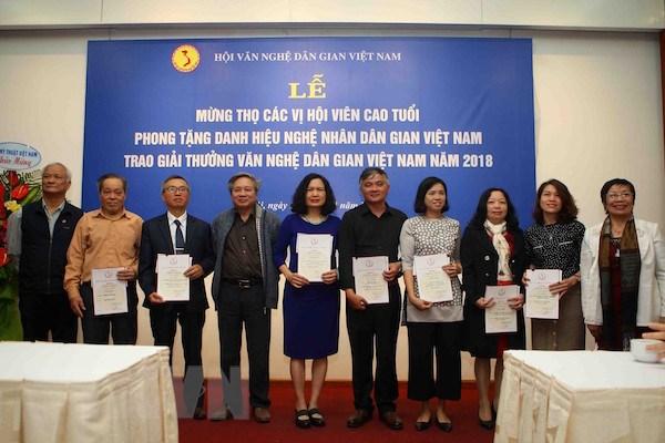 Vinh danh 42 công trình tiêu biểu tại Giải thưởng văn nghệ dân gian