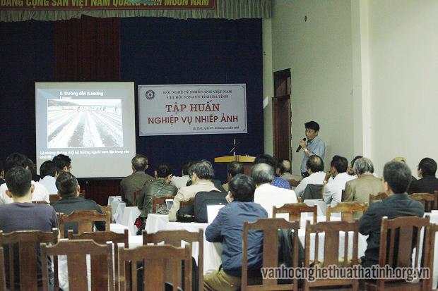 Khai giảng tập huấn nghiệp vụ nhiếp ảnh tại Hà Tĩnh