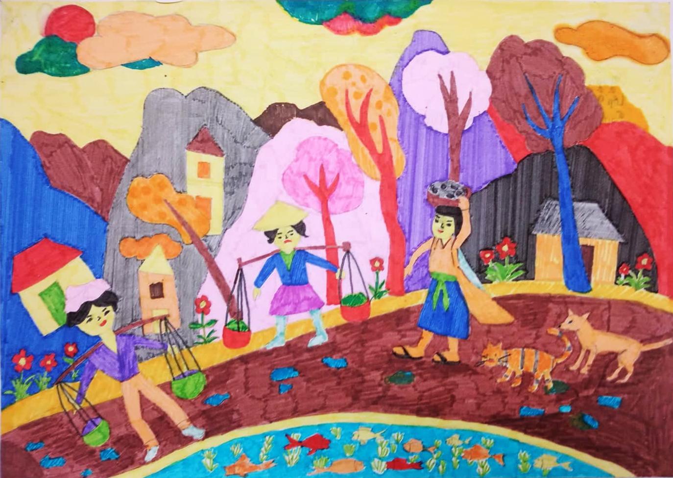 Chùm tác phẩm dự thi Viết - Vẽ tuổi học trò lần thứ XII