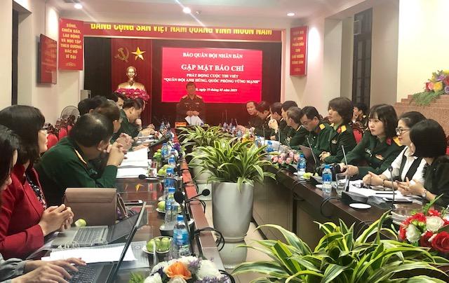 Phát động cuộc thi viết Quân đội anh hùng, quốc phòng vững mạnh