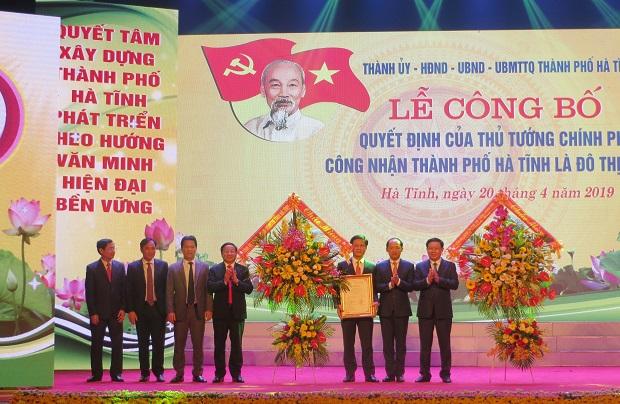 Lễ công nhận  thành phố Hà Tĩnh là đô thị loại II