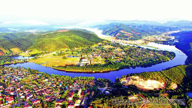 Huyện Vũ Quang với vẻ đẹp nhìn từ trên cao