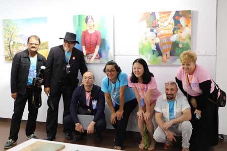 Họa sĩ 15 quốc gia tham dự triển lãm mỹ thuật quốc tế tại Đà Nẵng