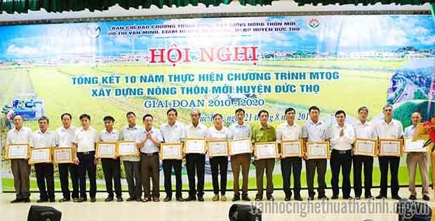 Đức Thọ tổng kết 10 năm thực hiện chương trình MTQG xây dựng nông thôn mới giai đoạn 2010 – 2020