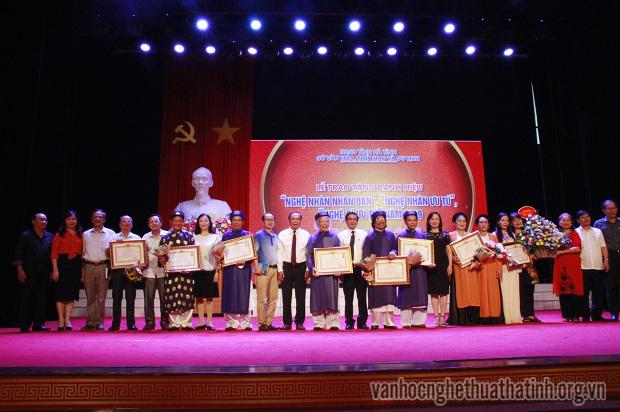 Lễ trao tặng danh hiệu Nghệ nhân nhân dân, Nghệ nhân ưu tú, Nghệ sĩ ưu tú năm 2019