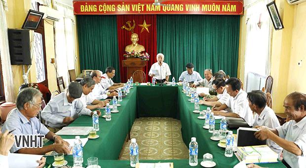 Hội nghị Ban chủ nhiệm Câu lạc bộ thơ Đường luật Hà Tĩnh