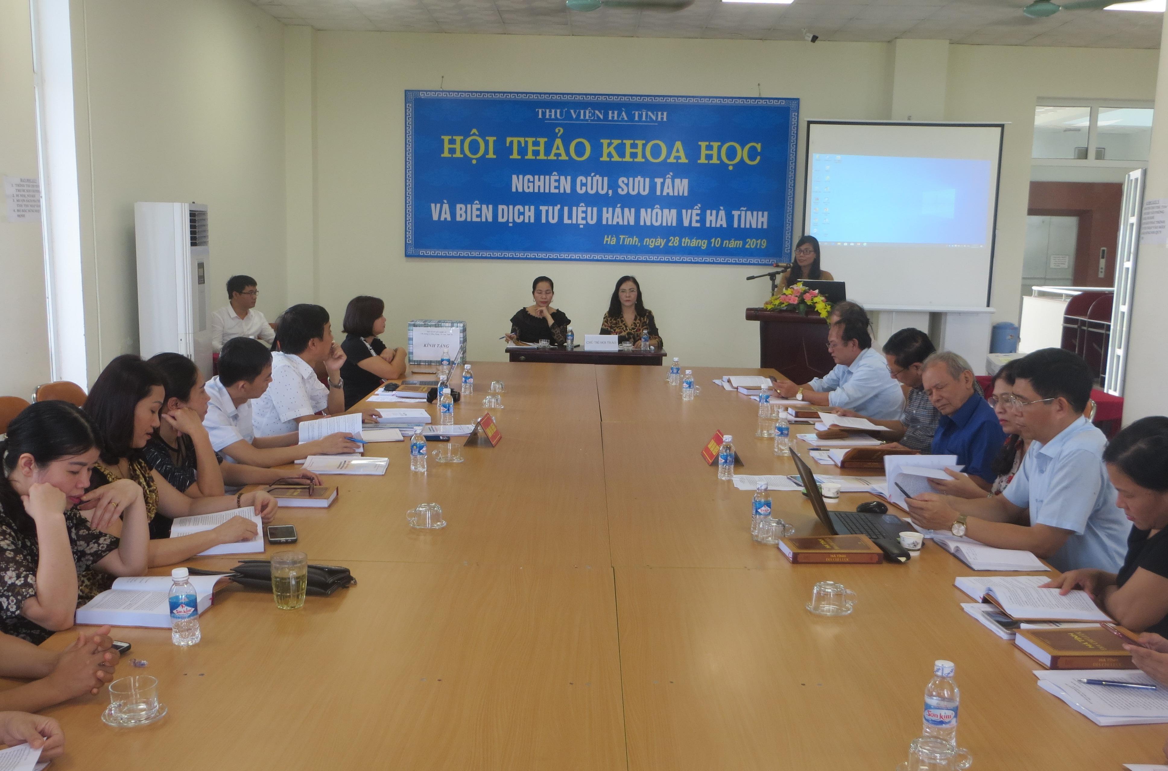 Hội thảo khoa học tư liệu Hán Nôm về Hà Tĩnh