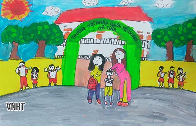 Chùm tranh của các em lớp 2 về ngày Nhà giáo Việt Nam