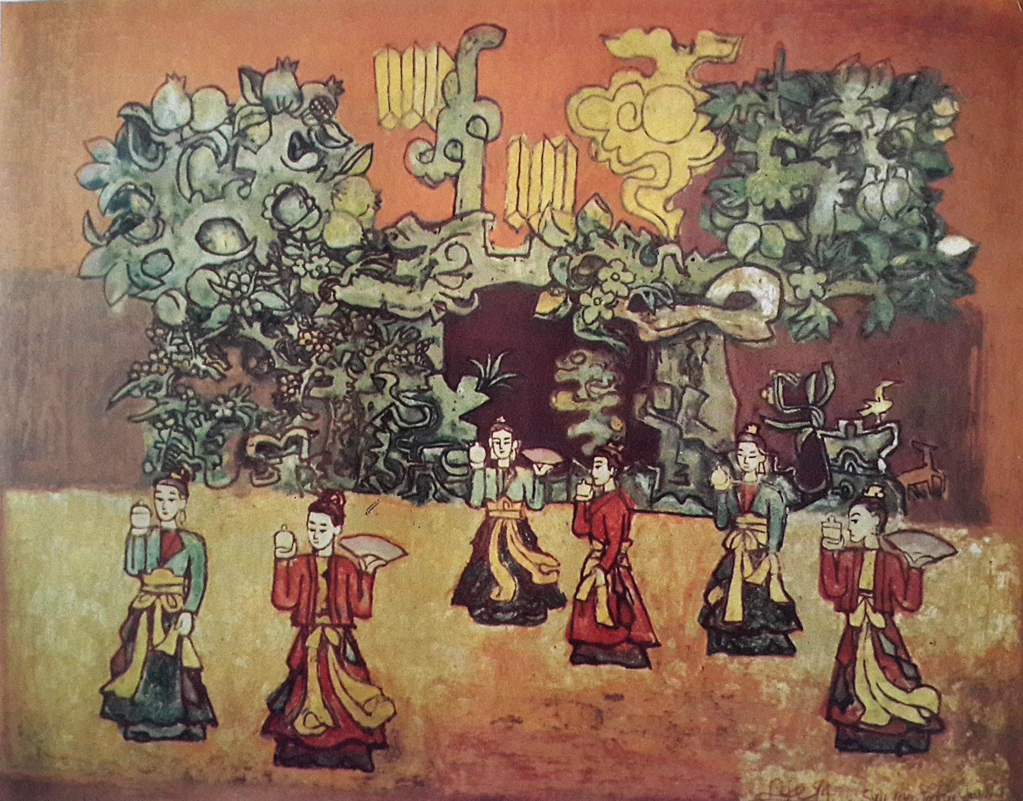 """Họa sĩ Nguyễn Tư Nghiêm """"Khai thác, đi đến tận cùng truyền thống, sẽ gặp hiện đại"""""""