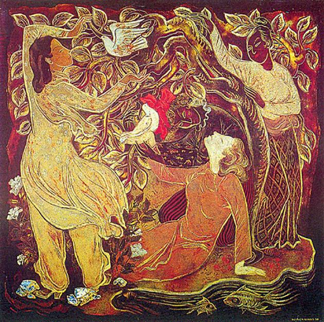 Các tác phẩm sơn mài của Họa sĩ Nguyễn Khang