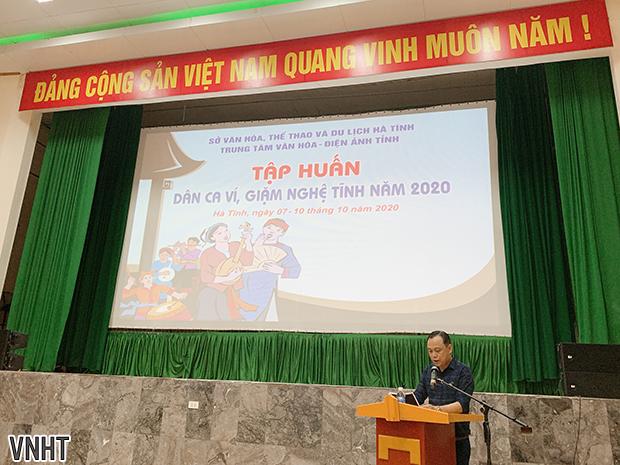 Tổ chức tập huấn Dân ca Ví, Giặm Nghệ Tĩnh năm 2020