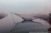 Chùm ảnh thị xã Kỳ Anh trong sương mù bao phủ