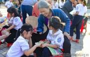 Ngày hội đọc sách gia đình tại trường tiểu học Thạch Linh