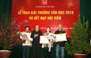 Lễ trao Giải thưởng Văn học năm 2018 và kết nạp hội viên mới