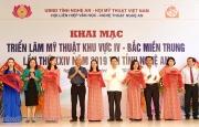 Triển lãm Mỹ thuật khu vực IV Bắc miền Trung lần thứ 24 tại Nghệ An