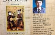 Tác giả Hồ Văn Chi với tập thơ ĐỌC KIỀU