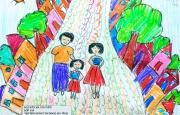 Chùm tranh của các em học sinh trường Hội nhập Quốc tế Ischool về gia đình