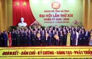 Đại hội Đảng bộ Hà Tĩnh thành công tốt đẹp, Thủ tướng tặng hoa chúc mừng Ban Chấp hành nhiệm kỳ mới