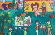 Chùm tranh của các em học sinh trường Hội nhập Quốc tế Ischool về ngày Tết
