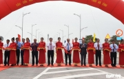 Lễ thông xe cầu Cửa Hội bắc qua sông Lam